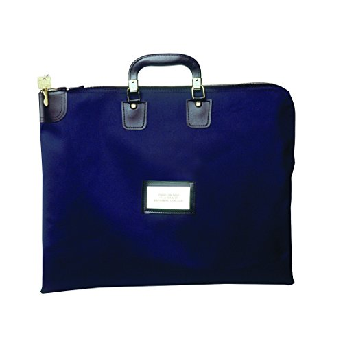 Locking Briefcase Style Courier Bag  Yale Blue  Navy