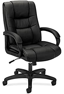 amazon com hon executive leather chair mid back office chair for