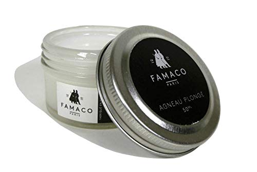 Lambskin Leather Conditioner - Pearlised Delicate Leather Condition Regenerate Nourish Protect Boots, Shoes, Wallets, Purse, Bags, Clothing, Gloves by Famaco Made in ()