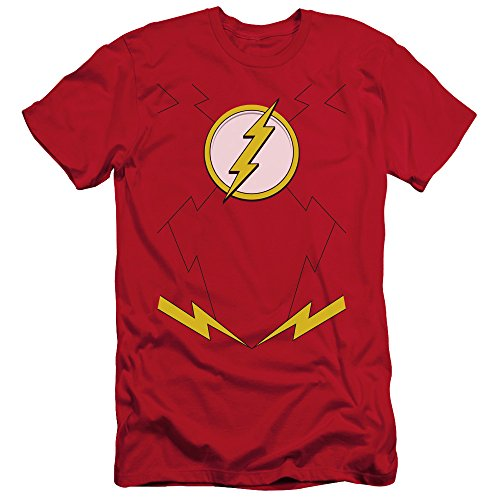 Justice League DC Comics New Flash Costume Adult T-Shirt Tee ()