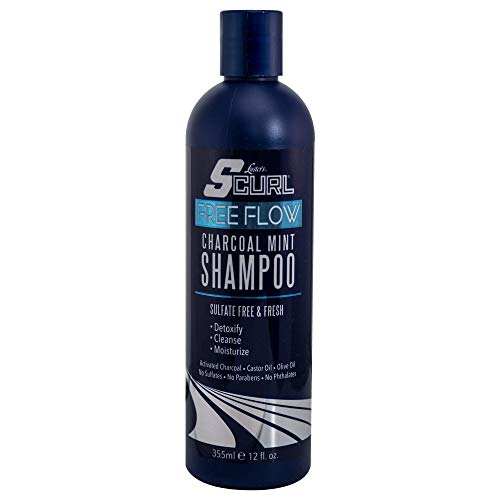 Charcoal Cab - Luster's SCurl Free Flow Charcoal Mint Shampoo