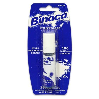 Binaca Fast Blast (Binaca Fast Blast Breath Spray - Peppermint 0.25 oz by Binaca)