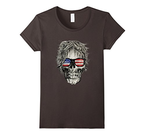 Womens Group Halloween Costume T Shirt Cool Skull Head Skeleton Fun XL Asphalt