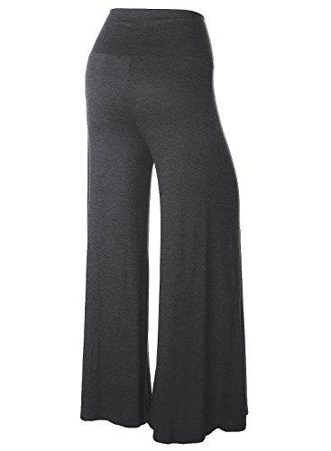 BAISHENGGT Mujer Pantalones Largos de Pernera Ancha para Yoga Gris Oscuro