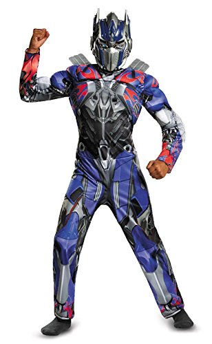 Disguise Hasbro Transformers Age of Extinction Movie Optimus Prime Classic Muscle Boys Costume, Medium/7-8 ()