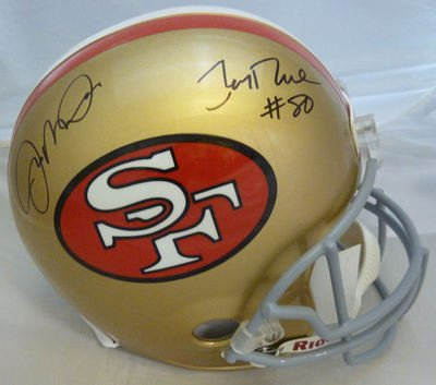 edbd68335 Jerry Rice Signed Helmet - Joe Montana   Dual - Autographed NFL Helmets