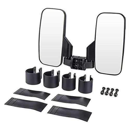 UTV Rear View Side Mirror, ISSYZONE Break Away Mirrors with 1.75