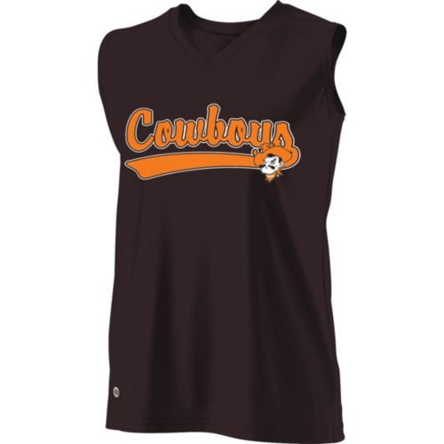 SLEEVELESS V-NECK OKLAHOMA STATE COWBOYS Girls Curve Dry-Excel ADULT MEDIUM Licensed NCAA College Replica Jersey