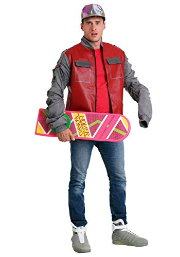 Back to The Future Marty McFly Jacket Costume Medium Red]()