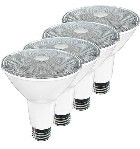 SleekLighting LED Par 30 Long Neck,11 Watt,(75 Watt Equivalent),Soft White -3000K,800Lumens,Dimmable Wide Flood Bulb,Indoor/Outdoor, Recessed Lighting, Spot Light,E26,ES&UL Wet Location 4Pack