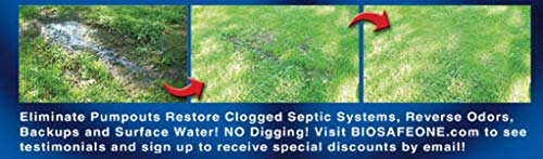 Bio-Safe One Level 3 Shock System- LVL3 Septic Tank Drain Field Restoration Cleaning System - Patented Bacterial Enzyme Based for All Septic Septic Systems, Cesspools, 3rd Level Package by Bio-Safe One, Inc. (Image #5)