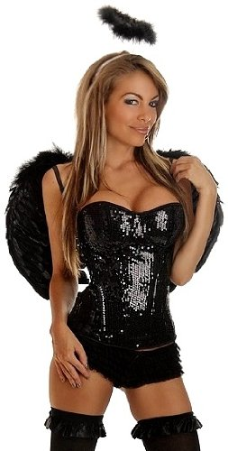 [Daisy Corsets 3 PC Sequin Dark Angel Costume Large] (Dark Angel Costumes Women)