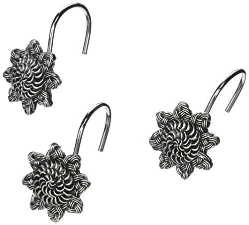 Avanti Linens Braided Medallion Shower Hooks, Granite