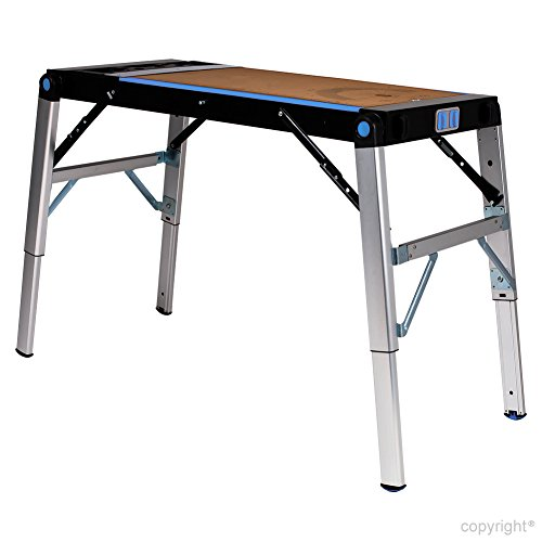 HICO WIS03-B 3-in-1 Multi-Function Universal Capacity Portable Folding Work Table for Workbench Scaffold Platform and Creeper Carrier from HICO