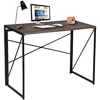 office writing table. Writing Computer Desk Modern Simple Study Industrial Style Folding Laptop Table For Home Office Brown