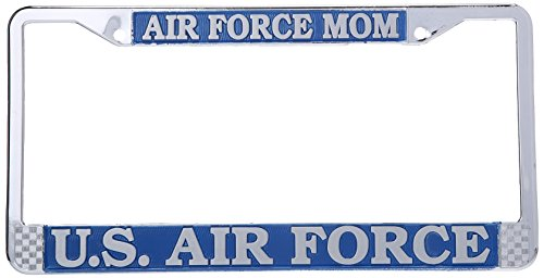 Air Force Mom US Air Force License Plate Frame (Chrome Metal)