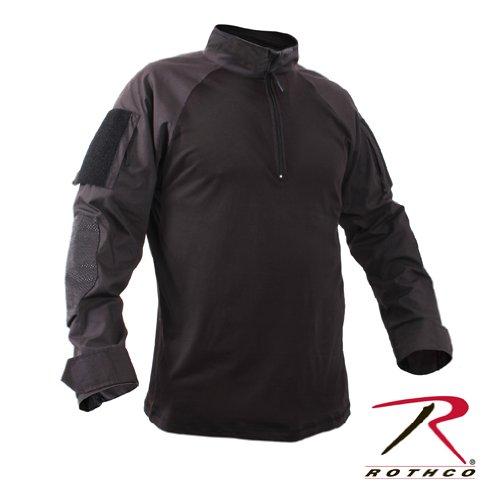 1/4 Zip Combat Shirt, Black, 2X