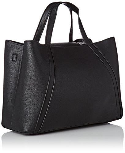 Tommy Hilfiger Bag In Med Work - Borse a tracolla Donna, Noir (Black/ Logo), 13.5x24.5x33 cm (W x H L)