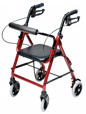 Lumex RJ4301R Walkabout Lite Junior Rollator, Burgundy