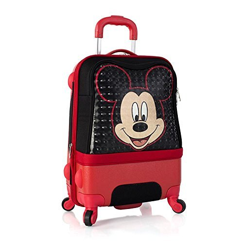 Disney Clubhouse 21 Inch Hybrid Carry on Spinner Luggage for Kids [Mickey]]()