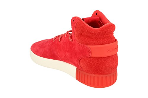 cheap price for sale Adidas Originals Tubular Invader Mens Hi Top Trainers Sneakers Shoes Red Red White S80244 100% guaranteed online sale footaction pre order online uZUmknnH