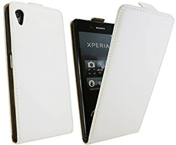 buy online 8879d 76243 Flip Phone Case for Sony Xperia E6653 Z5 in White Case: Amazon.co.uk ...