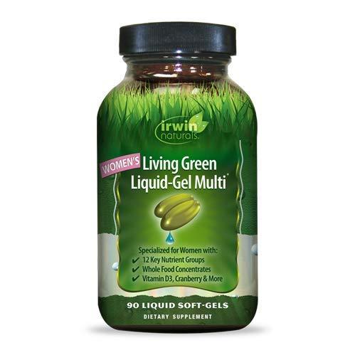 Irwin Naturals Women's Living Green Liquid-Gel Multi Vitamin - 70 Essential Nutrients