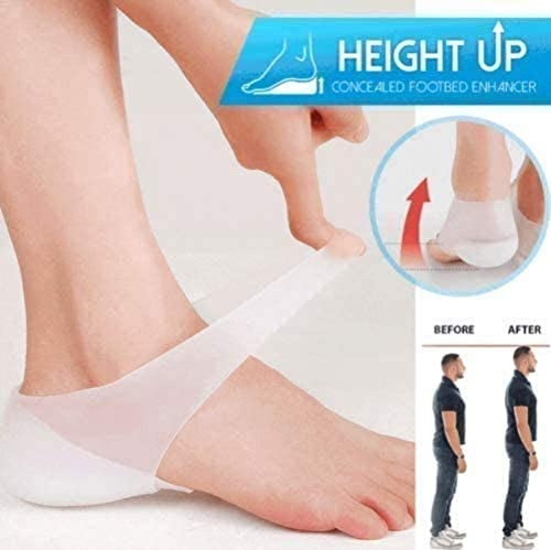 Concealed Footbed EnhancersSilicone Invisible Increase Insoles Invisible Height Increase Insoles for Men and Women