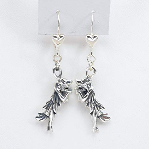 - Sterling Silver Border Collie Earrings, Silver Border Collie Jewelry fr Donna Pizarro's Animal Whimsey Collection