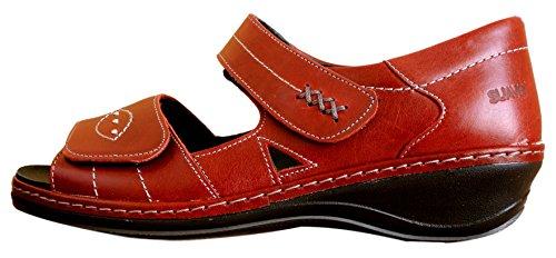 Rosso Comfort Piatto Sandalo Rosso Casual Hilda Suave Z85XxtwqZ