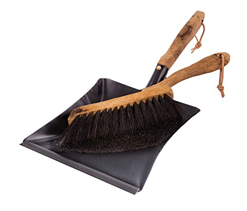(Redecker Vintage Line Horsehair Hand Brush and Dust Pan Set, 17-3/4-Inches)