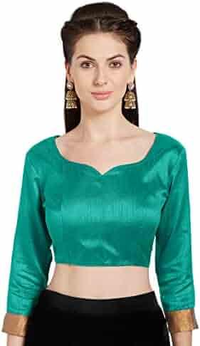 690c4994386f78 Women's Art Silk Readymade Saree Blouse Stylish Choli Mirchi Fashion Top