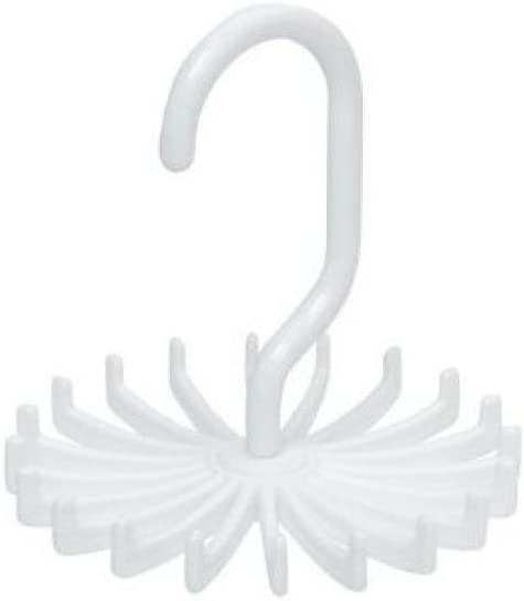 Iusun Multifunctional Plastic Shawl Necktie Scarf Organizer Rotating Neck Holds Adjustable Tie Rack Hanger Tie Hanger