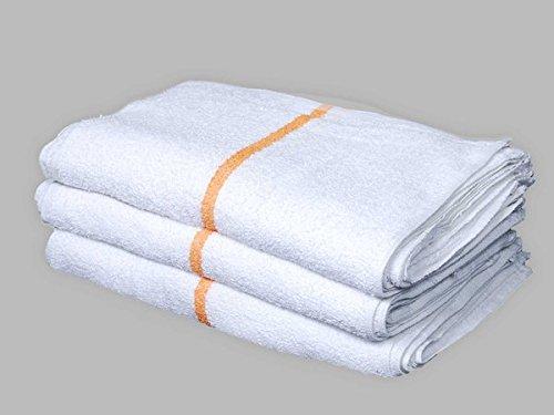 60 5 Dozen New Striped Bar Towels Bar Towels Mops Cotton Super Absorbent (Striped Bar Towel)