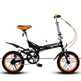 Weiyue Foldable Bicycle- 14 inch Pull Wind Micro Mountain Shock Absorption Folding Bicycle Single Speed Male and Female Students Bicycle