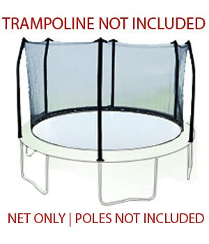 12-Trampoline-Net-attaches-with-Straps-for-6-Straight-Angled-Pole-Enclosures-Fits-Skywalker-Net-Only