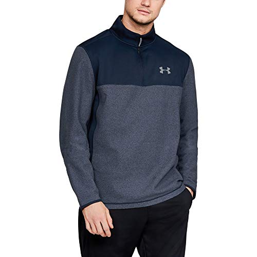 Under Armour Men's Coldgear Infrared Fleece ¼ Zip Sweat Shirt, Academy (408)/Steel, Medium