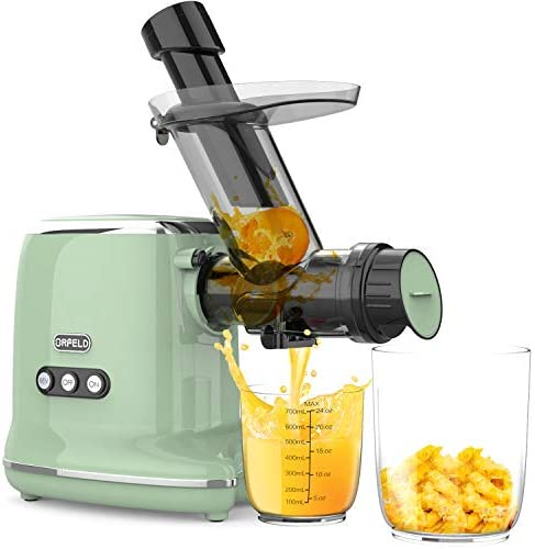 Juicer Machines, Orfeld Cold Press Juicer with 95% Juice Yield & Purest Juice, Easy Cleaning & Quiet Motor Masticating Juicer Machines for Vegetables and Fruits