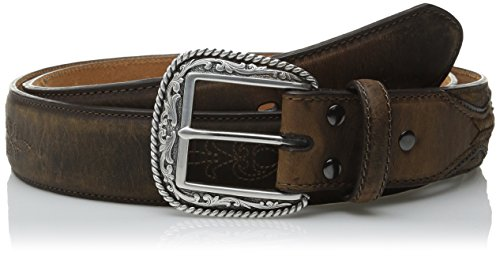 [Ariat Men's Flour Embroider, Brown, 38] (Western Leather Concho Belt)