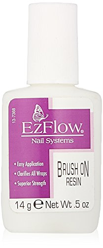 EZ Flow Fiber Glass Brush On Resin False Nails, 0.5 Ounce (Ezflow Brush)