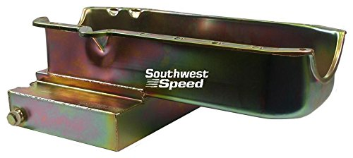 Circle Track Pan - NEW SOUTHWEST SPEED RACING 86 & NEWER SMALL BLOCK CHEVY OIL PAN, 7 QUART 7 1/2