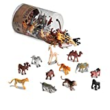 Terra by Battat - Wild Animals - Assorted Miniature Wild Animal Toys & Cake Toppers For Kids 3+ (60 Pc)