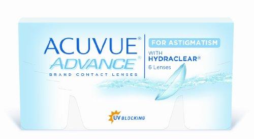 Acuvue Advance for Astigmatism 2-Wochenlinsen weich, 6 Stück / BC 8.6 mm / DIA 14.5 / CYL -0.75 / Achse 10 / -1.75 Dioptrien