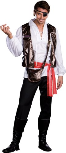 Dreamgirl - Captain One Eyed Willy Adult Costume - XX-Large - White