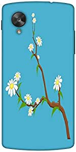 Snoogg White Flowers Branches Designer Protective Back Case Cover For Google ...