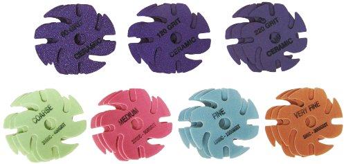 JoolTool 3M Cubitron Ceramic Purple & Trizact: 21 Piece Deluxe Abrasive Disc Kit, 3