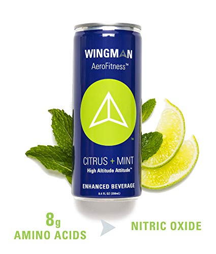 Wingman Nitric Oxide Booster Drink - Natural Energy Supplement with Amino Acids - 6 pack Citrus Mint (Based Vodka Christmas Drinks)