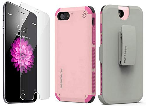 the best attitude 62070 8056f Amazon.com: iPhone 8 Plus Case with Clip, PureGear [Light Pink ...