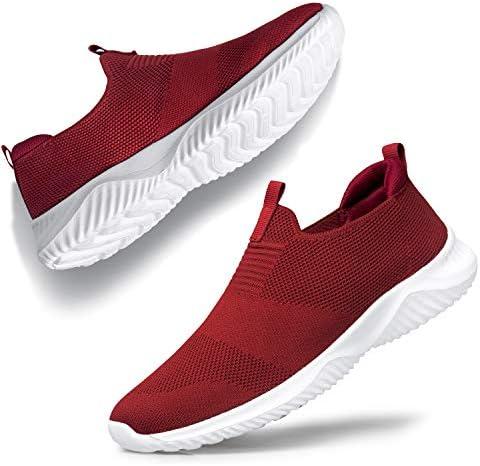 YHOON Women's Walking Shoes - Slip on Sneakers Lightweight Tennis Shoes Sock Sneakers