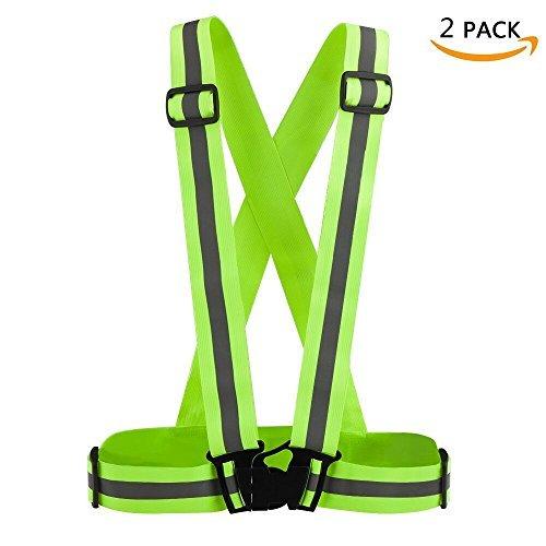lonew chaleco reflectante, alta visibilidad y seguridad para correr, motocicleta, ciclismo y emergencias de carretera, pack...